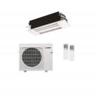 20,000 BTU 20 SEER Mitsubishi Dual Zone  Heat Pump System 9+12