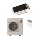 28,600 BTU 18 SEER Mitsubishi Tri Zone  H2i Hyper Heat Pump System 9+9+12