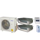 30,000 BTU 16 SEER Quad Zone Concealed Duct Gree Heat Pump System 9+9+9+12