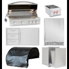 Blaze Professional 6-Piece 44-Inch Gas Outdoor Kitchen Package