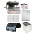 Blaze Professional 6-Piece 34-Inch Gas Outdoor Kitchen Package