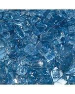 HPC 1/4 Inch Pacific Blue Fire Glass - 10 Lbs - FPGLPACIFICBLUE