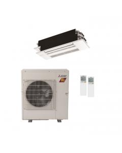 22,000 BTU 17 SEER Mitsubishi Dual Zone  H2i Hyper Heat Pump System 9+9