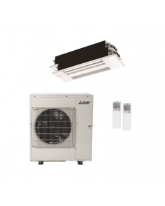 42,000 BTU 19.7 SEER Mitsubishi Dual Zone  Heat Pump System 18+18