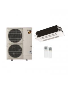 42,000 BTU 19 SEER Mitsubishi Dual Zone  H2i Hyper Heat Pump System 18+18