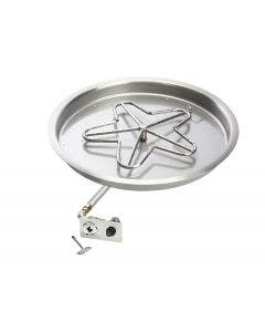HPC Push Button Ignition Bowl Pan Natural Gas Fire Pit Kit - Penta-FPK-Bowl-B
