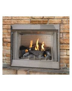 Empire Carol Rose Outdoor 36-Inch Electronic Ignition Fireplace With Logs-  OP36FP72M / OLX24WR