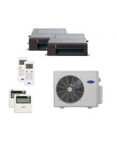 Carrier 18,000 BTU 22.5 SEER Dual Zone Heat Pump System 9+9 - Concealed Duct