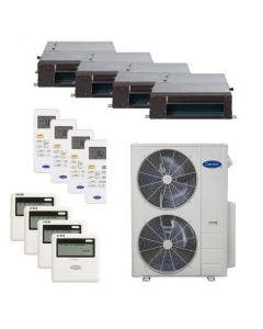Carrier 36,000 BTU 21.5 SEER Quad Zone Heat Pump System 9+9+9+9 - Concealed Duct