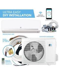 Perfect Aire DIY 24,000 BTU 21 SEER Quick Connect Ductless Mini-Split Heat Pump w/ WiFi - 3PAMSHQC24