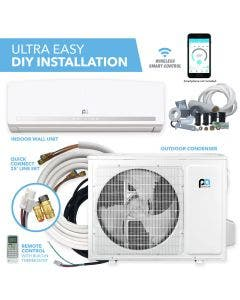 Perfect Aire DIY 9,000 BTU 19.5 SEER Quick Connect Ductless Mini-Split Heat Pump w/ WiFi - 115V new