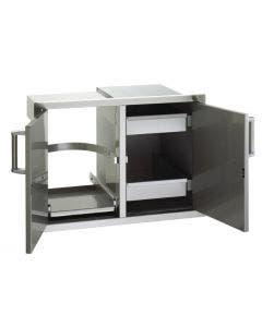 "Fire Magic Premium 21""h x 30½""w x 20½""d Double Doors w/Tank Tray Louvers & Dual Drawers - 53930SC-12T"