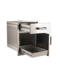 "Fire Magic Premium 25""h x 17½""w x 26""d Medium Pantry Door/Drawer Combo - 54018S"