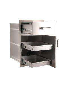"FireMagic Premium 33½""h x 20""w x 26""d Large Pantry Door/Drawer Combo - 54020S"