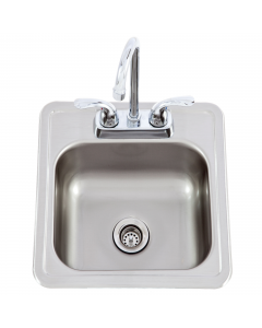 Lion 15 X 15 Outdoor Rated Stainless Steel Sink With Hot/Cold Faucet