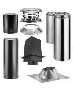 Duravent Cathedral Ceiling Kit With Double Wall Black Pipe Wood Stove Chimney Kit