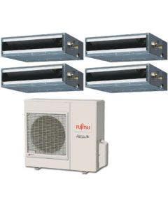 Fujitsu 36,000 BTU 16 SEER Quad Zone Heat Pump System 7+7+9+9 - Concealed Duct