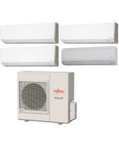 Fujitsu 36,000 BTU 18 SEER Quad Zone Heat Pump System 7+7+7+18 - Wall Mounted