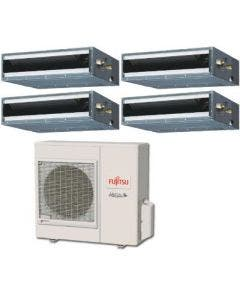 Fujitsu 36,000 BTU 16 SEER Quad Zone Heat Pump System 7+7+7+7 - Concealed Duct