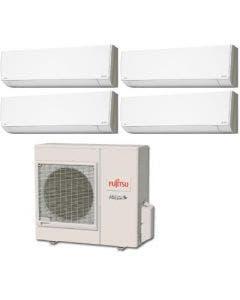 Fujitsu 36,000 BTU 18 SEER Quad Zone Heat Pump System 7+7+7+7 - Wall Mounted
