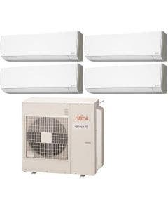 Fujitsu 36,000 BTU 20 SEER Quad Zone Heat Pump System 7+7+7+7 - Wall Mounted