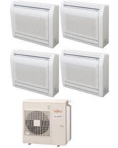 Fujitsu 45,000 BTU 19.7 SEER Quad Zone Heat Pump System 9+9+12+15 - Floor Mounted