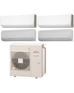 Fujitsu 45,000 BTU 19.7 SEER Quad Zone Heat Pump System 9+9+18+18 - Wall Mounted