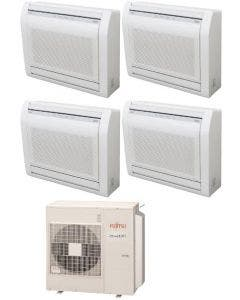 Fujitsu 45,000 BTU 19.7 SEER Quad Zone Heat Pump System 9+12+15+15 - Floor Mounted