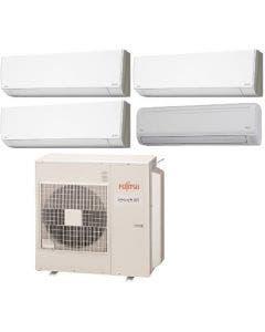 Fujitsu 45,000 BTU 19.7 SEER Quad Zone Heat Pump System 7+12+12+18 - Wall Mounted