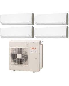 Fujitsu 45,000 BTU 19.7 SEER Quad Zone Heat Pump System 7+12+12+12 - Wall Mounted