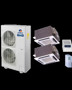 48,000 BTU 15 SEER Quad Zone Ceiling Cassette Gree Heat Pump System 12+12+18+18