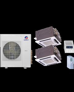 42,000 BTU 14 SEER Quad Zone Ceiling Cassette Gree Heat Pump System 12+12+12+12