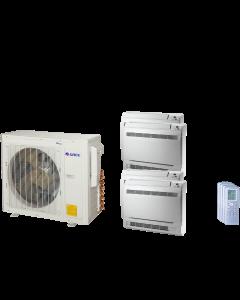 30,000 BTU 21 SEER Quad Zone Mini Console Gree Heat Pump System 9+9+9+9