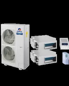 48,000 BTU 15 SEER Quad Zone Concealed Duct Gree Heat Pump System 12+12+18+18