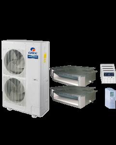 48,000 BTU 15 SEER Quad Zone Concealed Duct Gree Heat Pump System 9+9+18+24