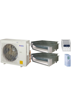 30,000 BTU 16 SEER Quad Zone Concealed Duct Gree Heat Pump System 9+9+9+9