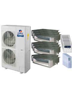48,000 BTU 15 SEER Eight Zone Concealed Duct Gree Heat Pump System 9+9+9+9+9+9+9+9
