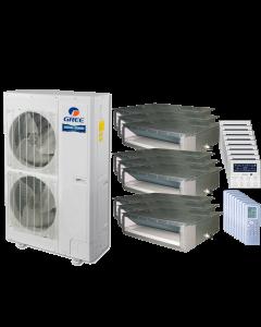 56,000 BTU 15 SEER Nine Zone Concealed Duct Gree Heat Pump System 9+9+9+9+9+9+9+9+9