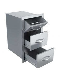 Sunstone Classic 17-Inch Double Access Drawer & Paper Towel Holder - A-DPCF- Open Drawer View