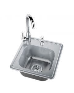 Sunstone 17-Inch Single Sink W/Hot & Cold Water - A-SS17- Top View