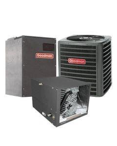 1.5 Ton 15 SEER Goodman Heat Pump Variable Speed Air Conditioner System - Horizontal