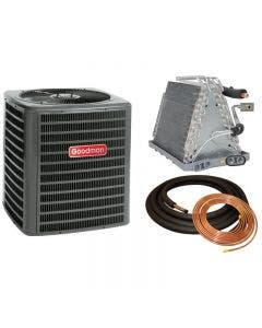 """Goodman 3 Ton 14 SEER Air Conditioner with Vertical 21"""" Uncased Coil"""