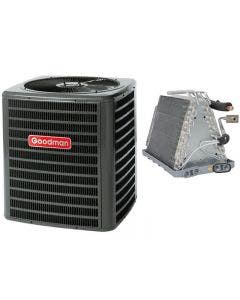 """Goodman 3 Ton 13 SEER Air Conditioner with Vertical 21"""" Uncased Coil"""