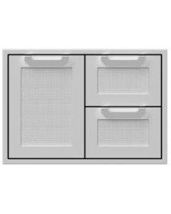 Hestan 30-Inch Double Drawer And Single Storage Door Combo - AGSDR30