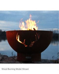 Fire Pit Art Gas Fire Pit- Antlers