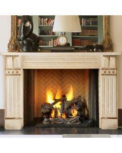 Majestic Ashland 50-Inch Wood Fireplace- ASH50