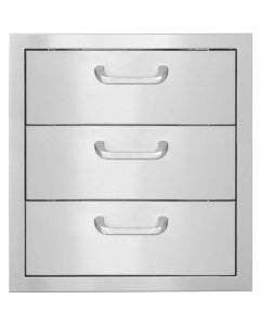 BBQ Direct Universal 16-Inch Triple Access Drawer With Paper Towel Holder