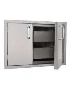 BBQ Direct Universal 32-Inch Sealed Dry Storage Pantry With Shelf