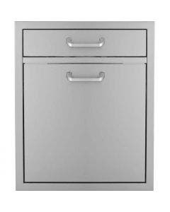 BBQ Direct Universal 20-Inch Single Drawer & Roll-Out Trash/Recycling Bin Combo