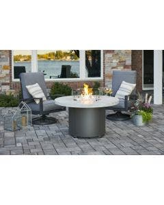The Outdoor Greatroom Beacon Marbelized Noche Chat Height Gas Fire Pit Table - BC-20-MNB